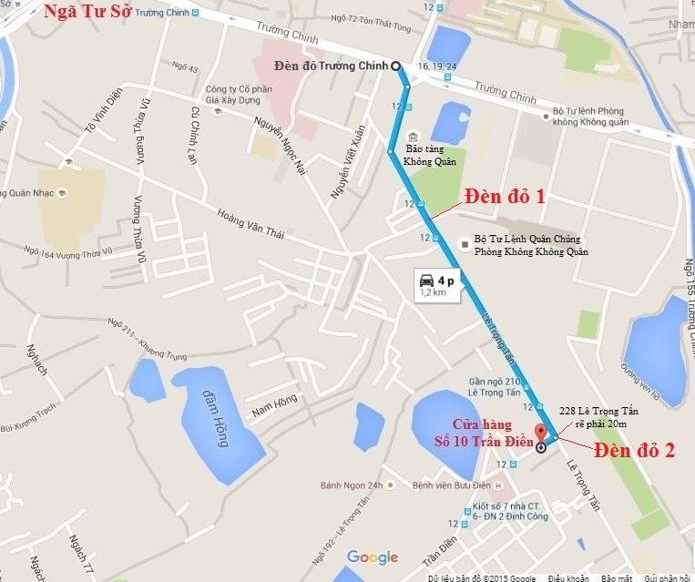 Bản đồ cửa hàng Số 10 Trần Điền