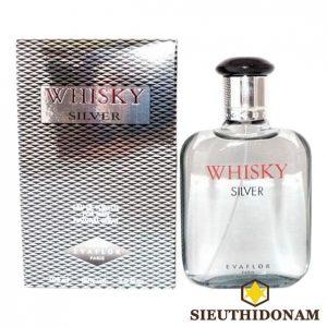 Evaflor Whisky Men Silver Eau De Toilette