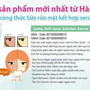 Sữa rửa mặt Cathy Doll Acne Solution Serum Foam Cleanser