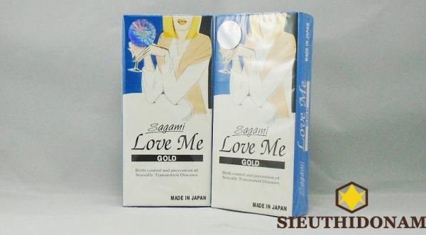 Bao cao su Sagami Love Me Gold, hãng Sagami từ Nhật Bản, tăng kích thích, an toàn khi quan hệ