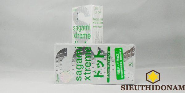 Bao cao su Sagami Dots gân gai