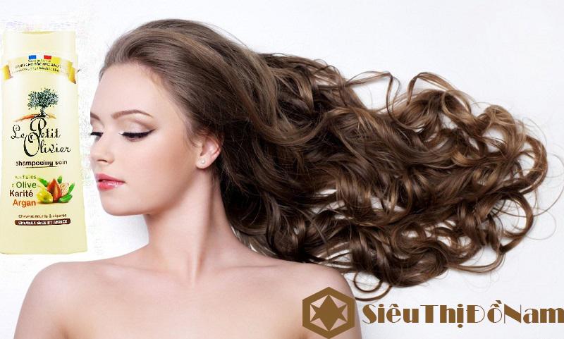 Dầu gội Le Petit Olivier Shampooing Soin, dành cho tóc khô và hư tổn, làm sạch da đầu