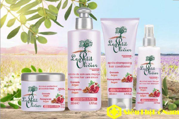 Dầu xả Le Petit Olivier Pomegranate Argan, dưỡng và bảo vệ tóc nhuộm