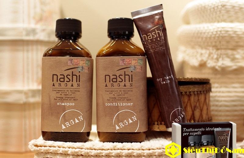 dầu gội và dầu xả nashi argan